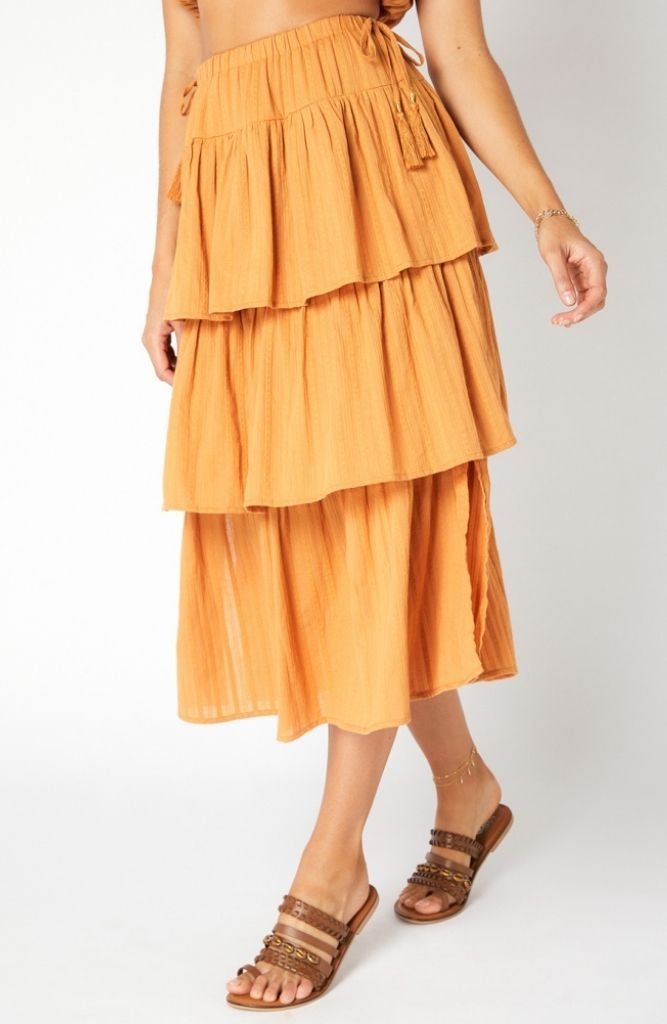 Kindness Tiered Maxi Skirt