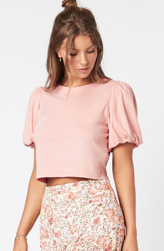 Monica Bubble Tee Blush