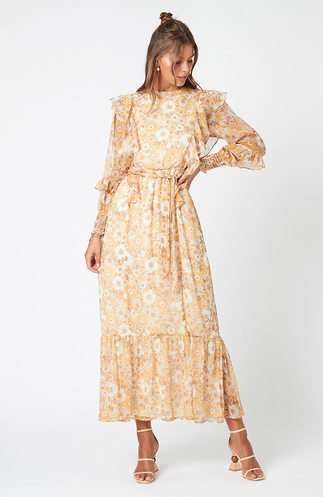 MINKPINK Sunshine Floral Maxi Dress