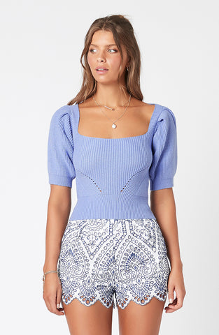 Halston Knit Top