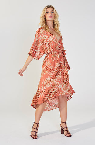 Dragonfly Wrap Midi Dress (4317505716317)