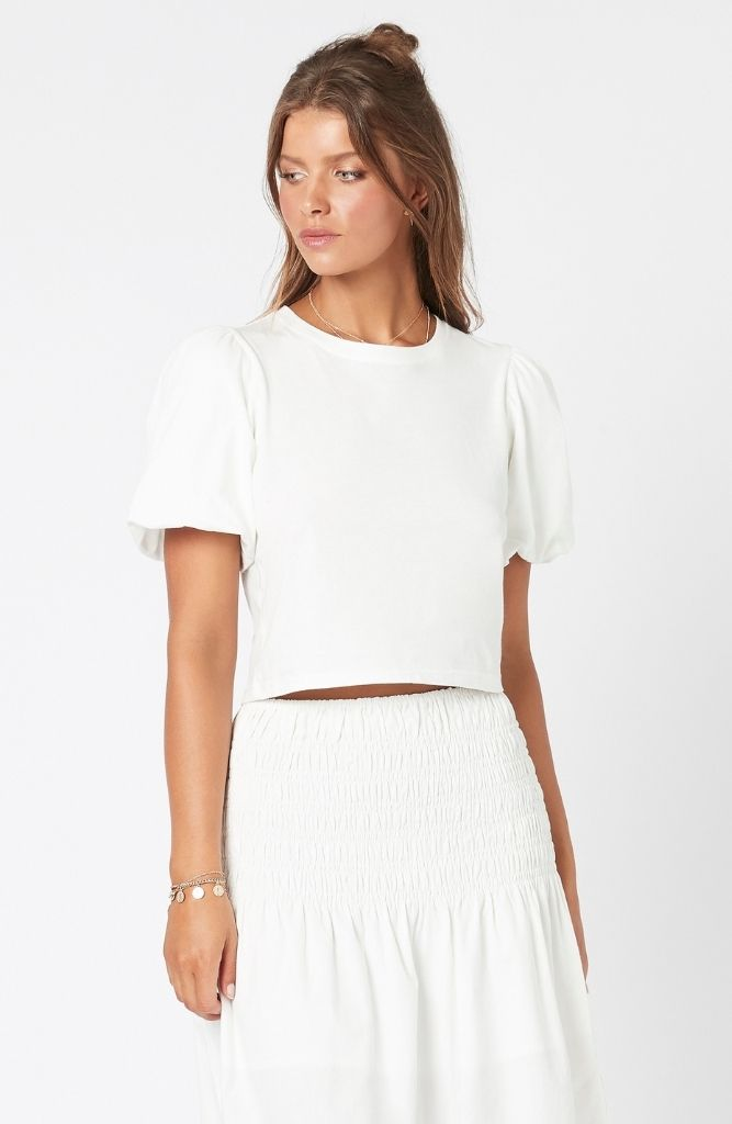 Monica Bubble Tee White