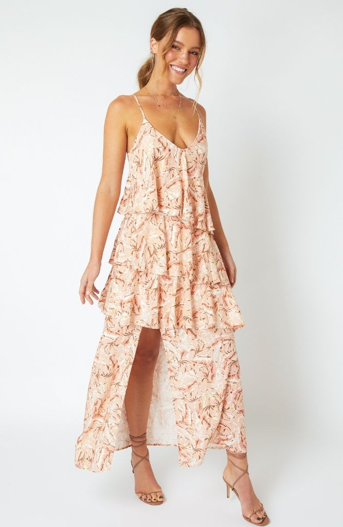 South Coast Palm Midi Dress