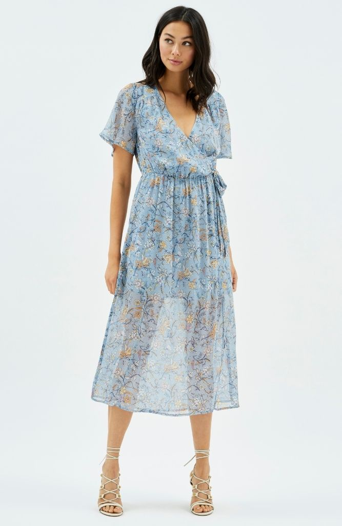 Cheyenne Wrap Midi Dress