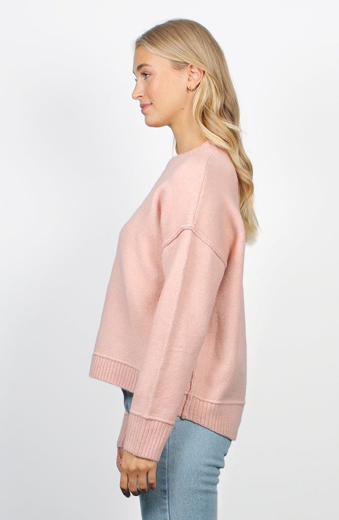 Oversized Blush Hi-Low Jumper
