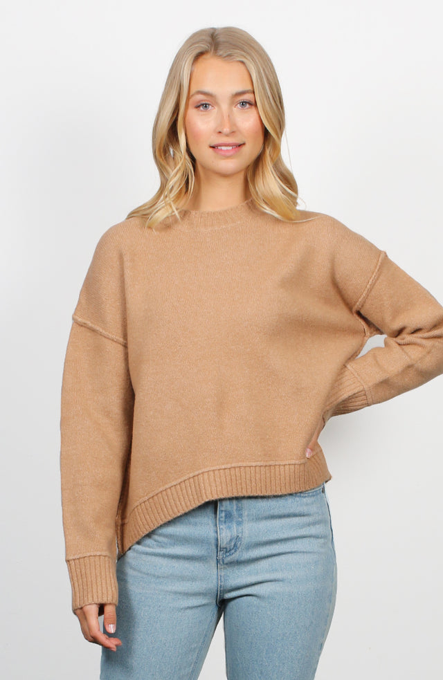 Oversized Natural Hi-Low Jumper