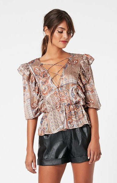 Carlotta Lace Up Blouse (4581891801181)