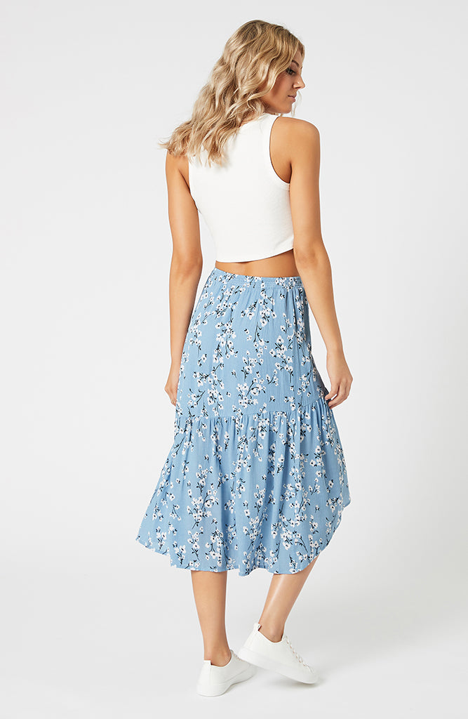 Bluebell Fields Midi Skirt
