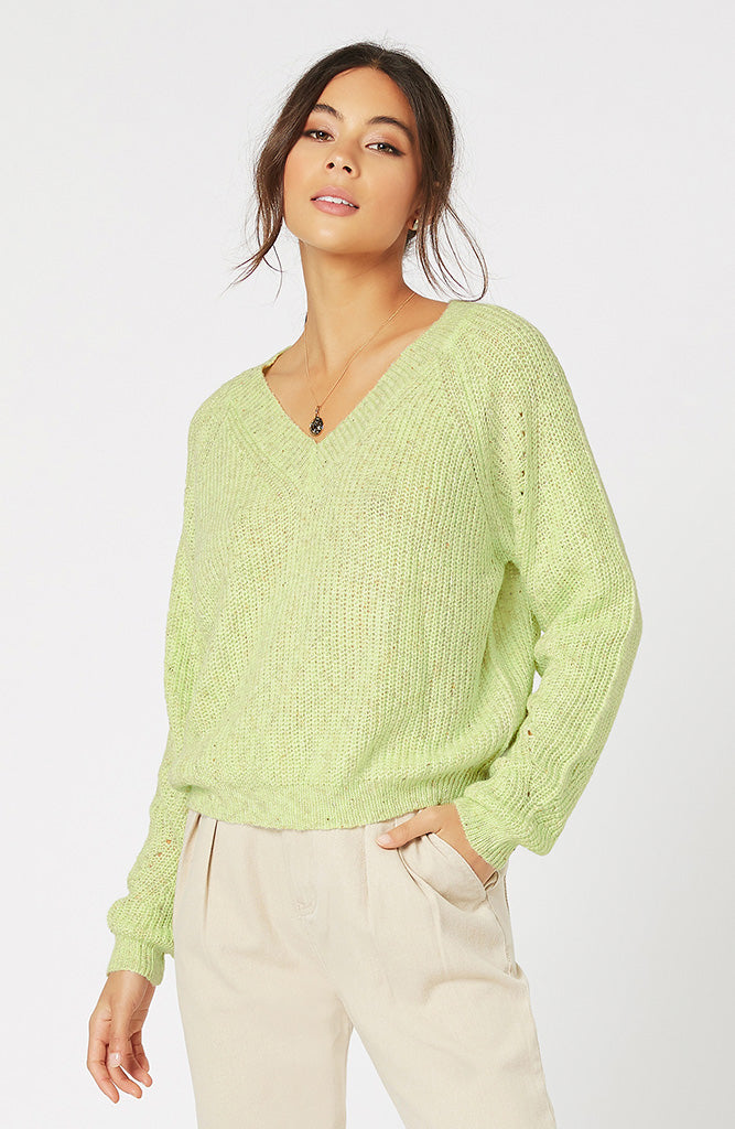 MINKPINK Sale Neridah V-Neck Knit