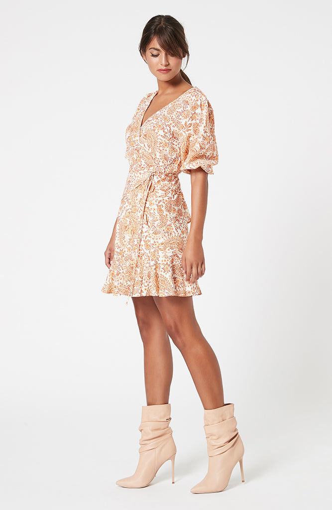 Golden Paisley Wrap Top (4581890326621)