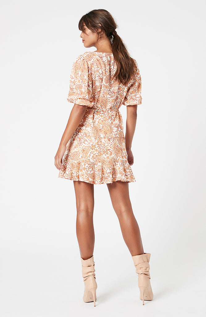 Golden Paisley Mini Skirt (4581890130013)