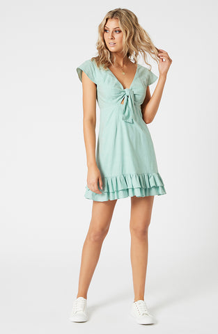 Brooke Tie Front Mini Dress (4598530441309)