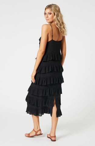 Noha Strappy Frill Dress