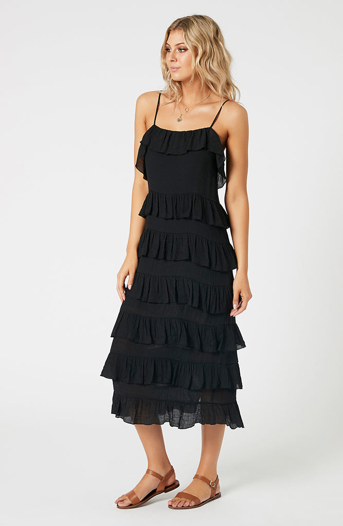 Noha Strappy Frill Dress (4507785625693)