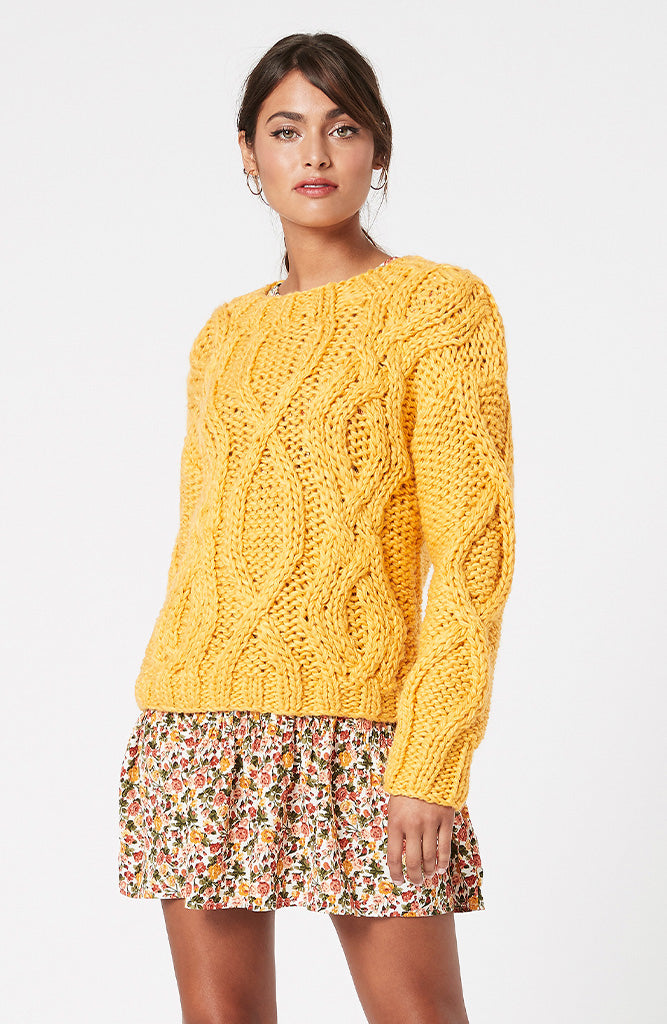 MINKPINK Marielle Cable Sweater