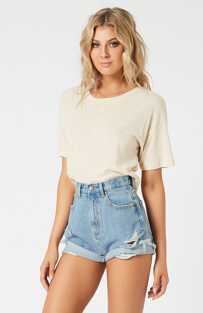 Aliyah Ruched Back Tee (4598530408541)