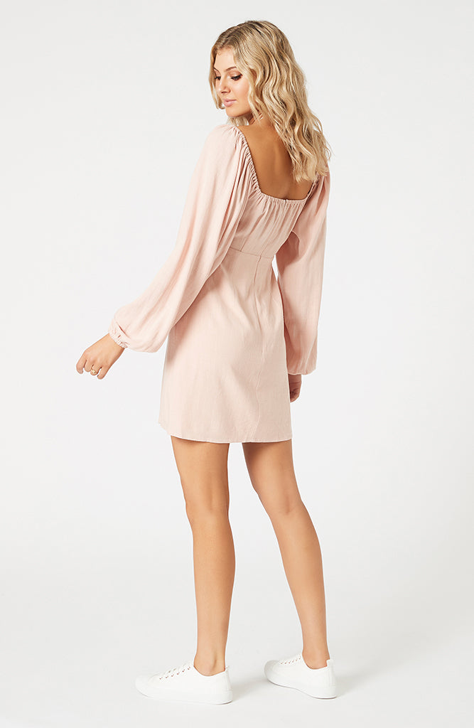 Priscilla Tie Front Mini Dress (4474144882781)