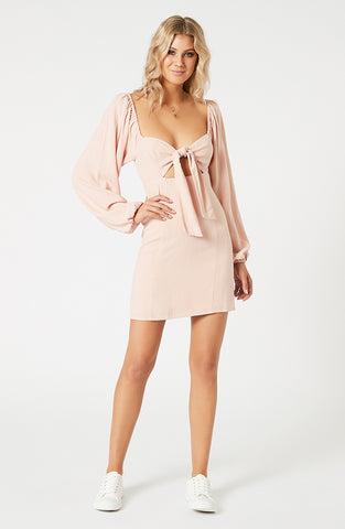 Priscilla Tie Front Mini Dress