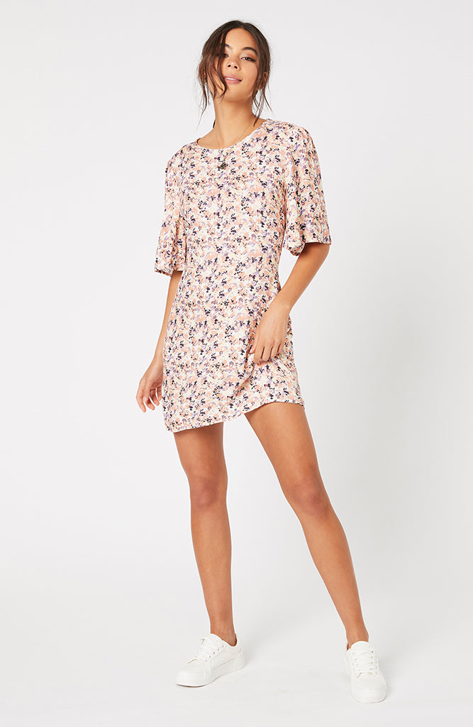 Smudge Floral Mini Dress