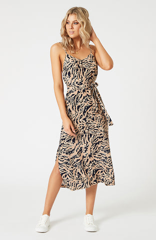 Biscuit Swirl Slip Dress