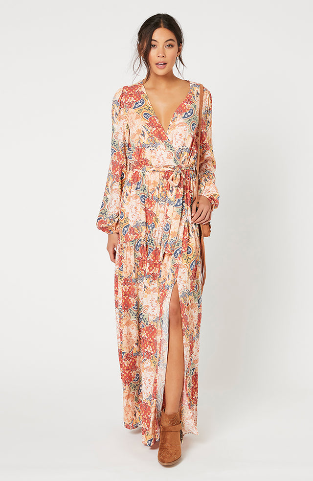 Patchwork Paisley Maxi Dress