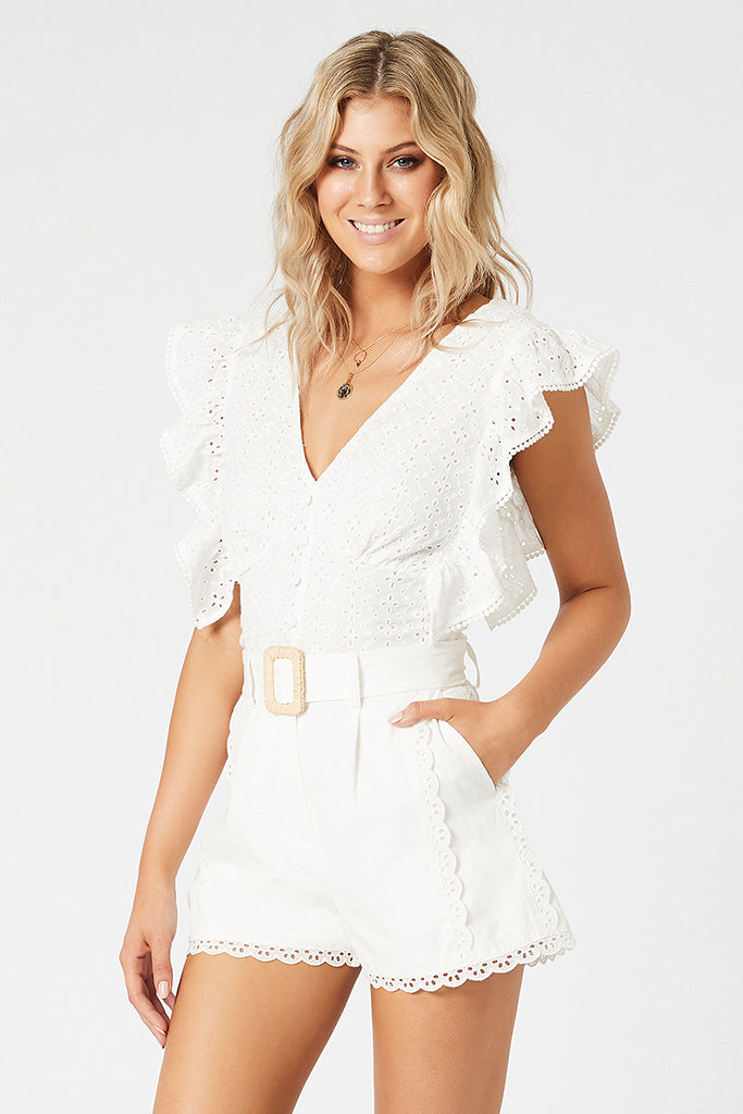 Angelic Broderie Anglaise Top