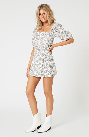 Rosehip Puff Sleeve Mini Dress (4507786182749)