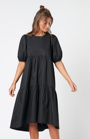 Hazel Midi Dress - Black