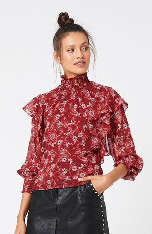 Midnight Merlot Blouse