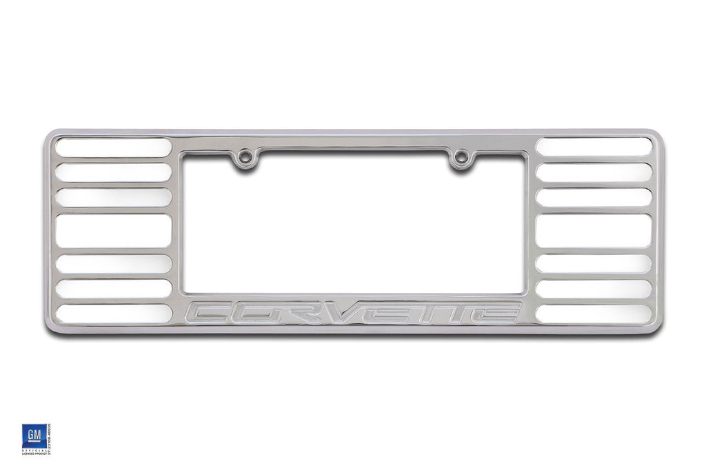 1994 + Defenderworx Corvette License Plate Frame Large w/open slots - Southwest Speed LLC