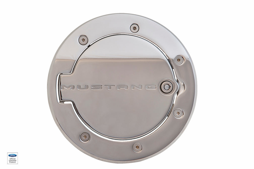 2010 - 2014 Defenderworx Mustang Logo Locking Fuel Door - Southwest Speed LLC