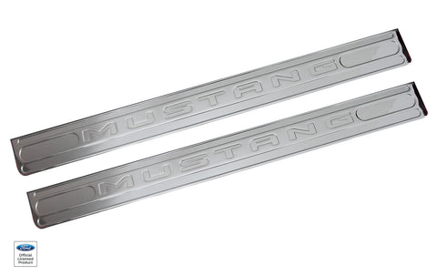 2010 - 2014 Defenderworx Mustang Logo Door Sills - Southwest Speed LLC