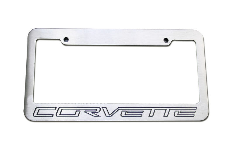 Defenderworx Corvette License Plate Standard Frame