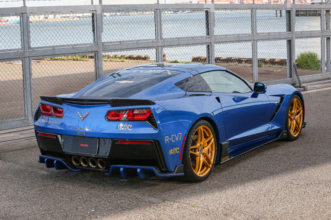 2014 + Corvette C7 Style Kit- Carbon(Front, left side, right side, rear, spoiler) - Southwest Speed LLC