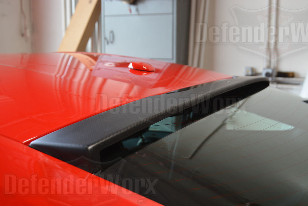 2015 + Defenderworx Ford Mustang Dry Carbon Fiber Rear Upper Window Spoiler - Southwest Speed LLC