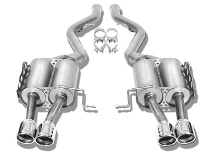 "Borla Touring Cat Back 15 Ford Mustang 2.3L EcoBoost MT/AT 2.25"" pipe 4"" tip  - Southwest Speed LLC"