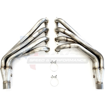 "Texas Speed & Performance 304 Stainless Steel 1 7/8"" or 2"" Long Tube Headers '10-15 Camaro SS - Southwest Speed LLC"
