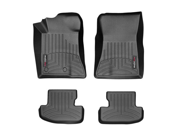 WeatherTech 15 Ford Mustang Front and Rear FloorLiners - Black  - Southwest Speed LLC