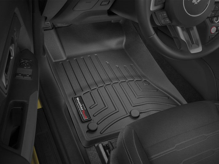 WeatherTech 15 Ford Mustang Front FloorLiners - Black - Southwest Speed LLC