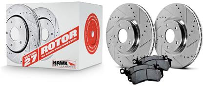 Hawk Performance 2010 Chevrolet Camaro 6.2L SS -Sector 27 Rotors w/ PC Pads Kit -Front - Southwest Speed LLC