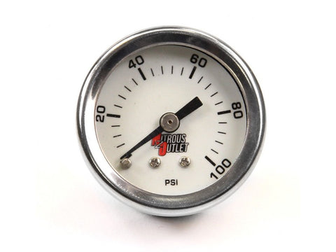Nitrous Outlet 0-100psi Fuel Pressure Gauge - Southwest Speed LLC