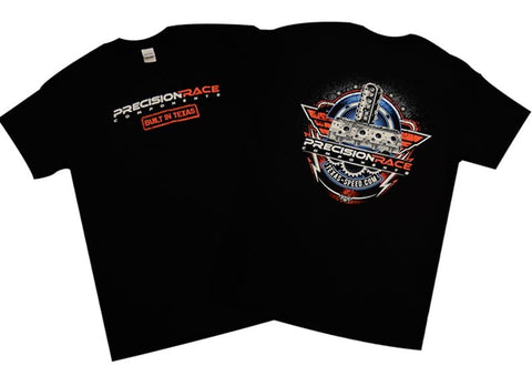"Precision Race Components ""Built in Texas"" Black T-Shirt - Southwest Speed LLC"