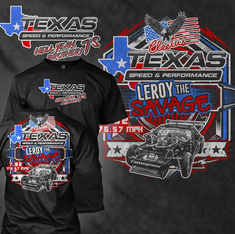 Texas Speed & Performance/Cleetus McFarland 7-Second Leroy Soft-Style T-Shirt, Black