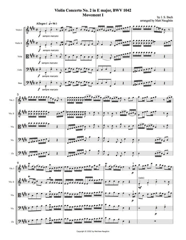 Violin Concerto No. 2 in E major, BWV 1042, First Movement (J. S. Bach)