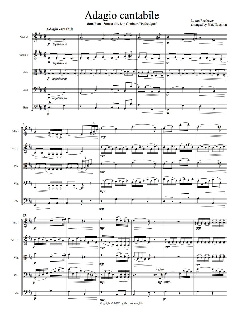 "Adagio cantabile from the ""Pathetique"" Sonata (Beethoven)"