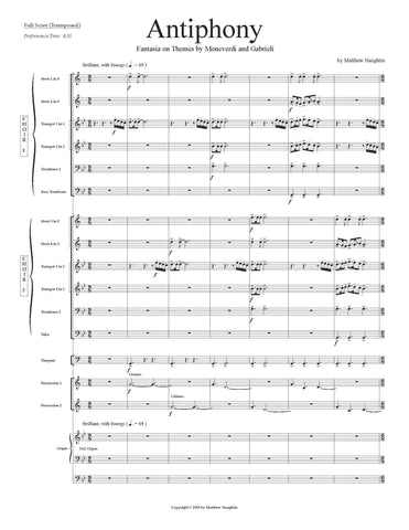 Antiphony: Fantasia on Themes by Moneverdi and Gabrieli