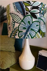 Tropical Leaf Aqua Lampshade