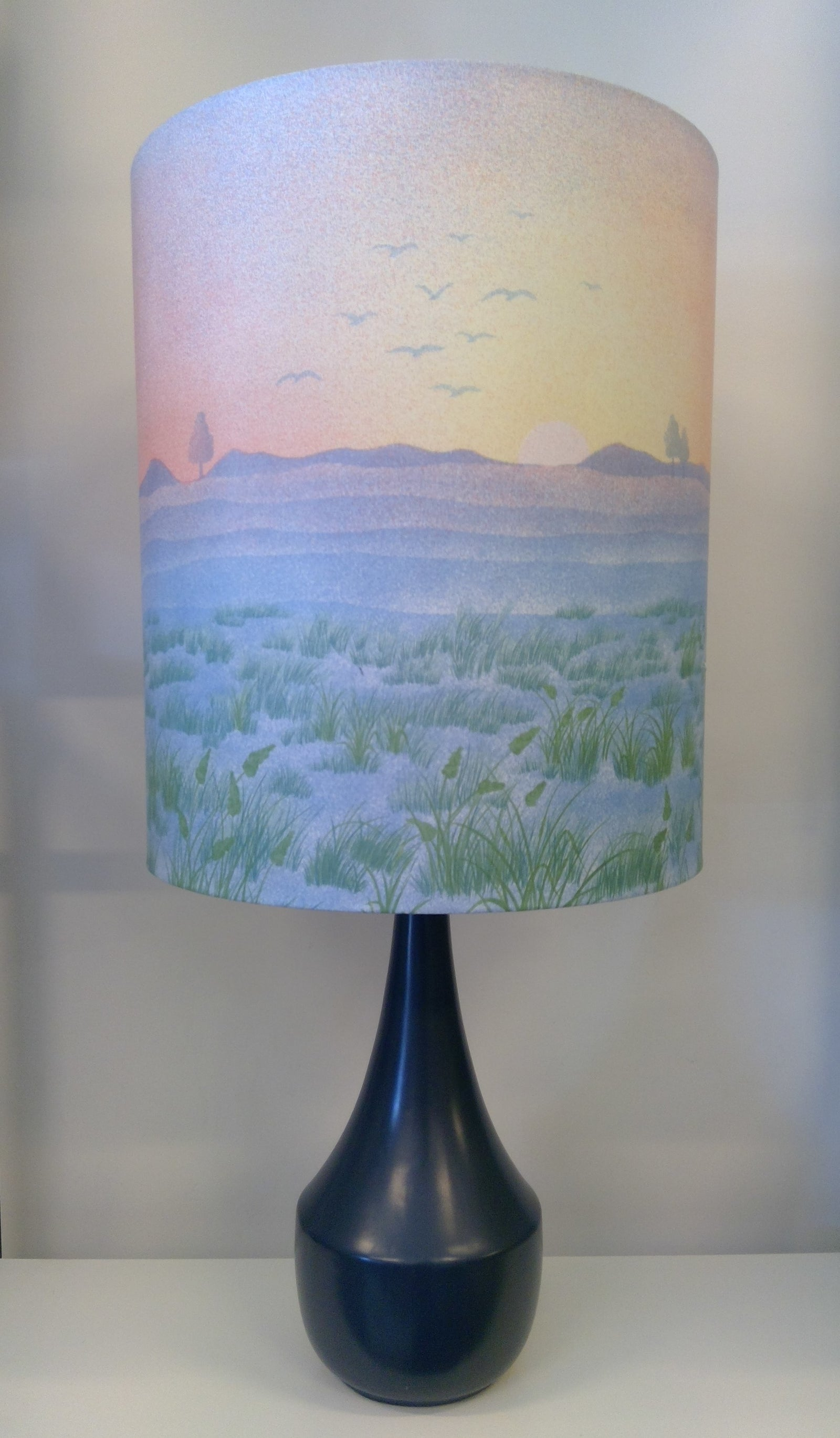 Vintage Sunset Lampshade