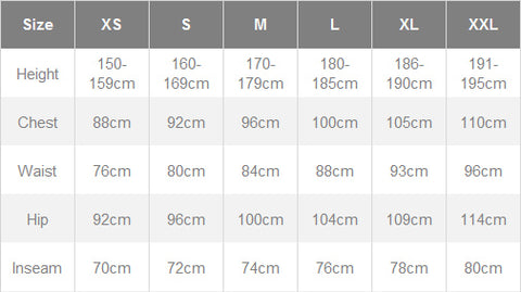 Giordana men's sizing chart