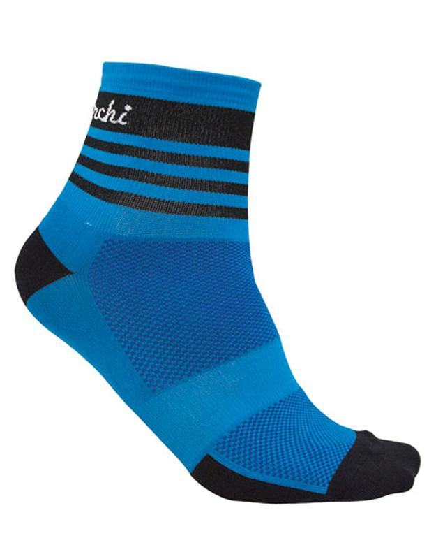 De Marchi cycling blue stripe pro bicycle sock